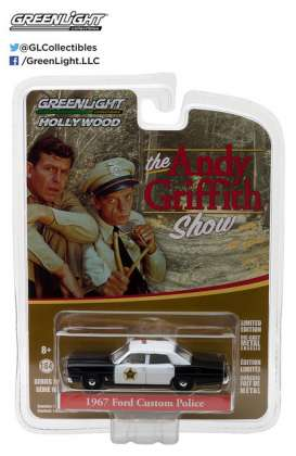 GreenLight - Ford  - gl44760B : 1967 Ford Custom Police *The Andy Griffith Show* Hollywood Series 16