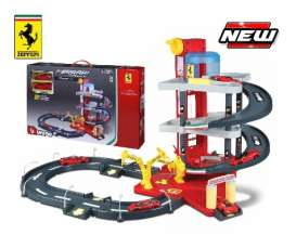 Bburago - Ferrari  - bura31239 : Ferrari R&P Showroom Playset + 2 Cars, red