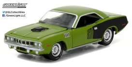 GreenLight - Plymouth  - gl13180B : 1971 Plymouth Barracuda Muscle Series 18, grass green