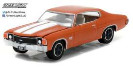 GreenLight - Plymouth  - gl13180C : 1972 Chevrolet Chevelle SS Muscle Series 18, orange flame