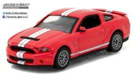 GreenLight - Ford  - gl13180D : 2011 Ford Shelby GT-500 with SVT Performance Package Muscle Series 18, race red