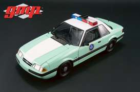 GMP - Ford  - gmp18845 : 1988 Ford Mustang United States Border Patrol SSP, green/white