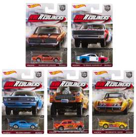 Hotwheels - Assortment/ Mix  - hwmvDJF77-956G~10 : 1/64 *RedLiners* Assortment. Mix box of 10