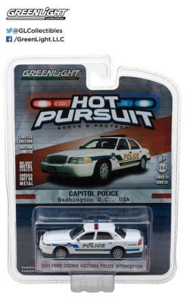 GreenLight - Ford  - gl42790A : 2010 Ford Crown Victoria Police Interceptor Capitol Police *Hot Pursuit series 22*, white/blue