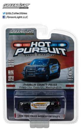 GreenLight - Ford  - gl42790E : 2016 Ford Police Interceptor Utility Franklin County *Hot Pursuit series 22*, Washington Sheriff