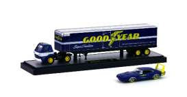 M2 Machines - Dodge  - m2-36000-19AC : 1969 Dodge L600 COE truck & 1969 Dodge Charger Daytona 440 *Auto Haulers series 19A*, blue