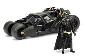 Jada Toys - Batman  - jada98261 : 2008 Batmobile *The Dark Knight*, black with Diecast Batman Figure