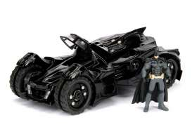 Jada Toys - Batman  - jada98037 : 2015 Batmobile *Arkham Knight*, black with Diecast Batman Figure