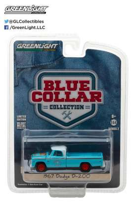 GreenLight - Dodge  - gl35060A : 1967 Dodge D200 Grump Ass *Blue Collar Collection Series 2*