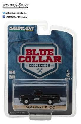 GreenLight - Ford  - gl35060B : 1968 Ford F-100 Tupelo Grease *Blue Collar Collection Series 2*