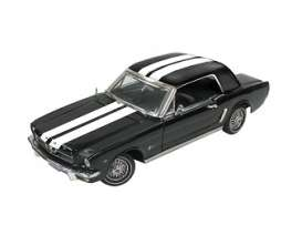 Motor Max - Ford  - mmax73164bkw : 1964 1/2 Ford Mustang hardtop, black/white
