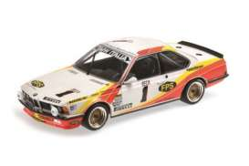 Minichamps - BMW  - mc155832601 : 1983 BMW 635CSI BMW Italia #1 Grano/Kelleners/ Cecotto 24H SPA, orange/white