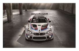 Minichamps - BMW  - mc437152600 : 2015 BMW M6 GT3 Presentation IAA 2015 *Resin series*, white/blue/red