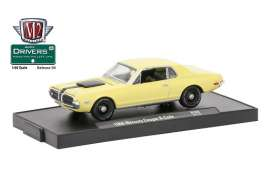 M2 Machines - Mercury  - M2-11228-38D : 1968 Mercury Cougar R-Code *M2-Drivers Release 38*, yellow