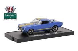 M2 Machines - Shelby  - M2-11228-38E : 1966 Shelby G.T.350H *M2-Drivers Release 38*, blue/gold