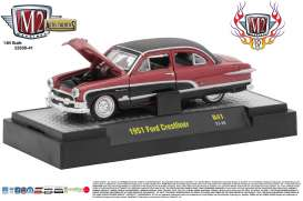 M2 Machines - Ford  - M2-32500-41B : 1951 Ford Crestliner *Auto-Thentics Release 40* 10th Anniversary M2 Machines, red/black