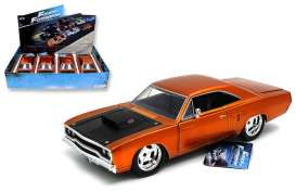 Jada Toys - Plymouth  - jada97127~4 : 1970 Plymouth Road Runner *Fast and the Furious* in a tray with 4pcs.