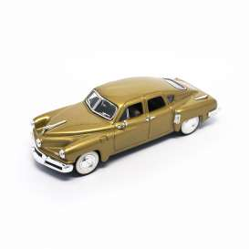 Lucky Diecast - Tucker  - ldc43201gld : 1948 Tucker Torpedo *Premium series* with extra details, gold