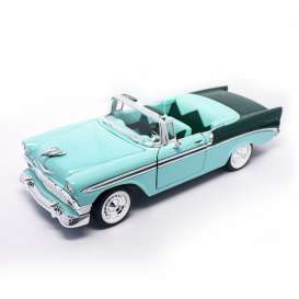 Lucky Diecast - Chevrolet  - ldc92128gn : 1956 Chevrolet Bel Air Convertible *Road Signature*, green