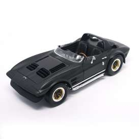 Lucky Diecast - Chevrolet  - ldc92697bkm : 1964 Chevrolet Corvette Grand Sport Roadster, black matt