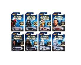 Hotwheels - Assortment/ Mix  - hwmvCKJ41~8 : Hotwheels 1/64 Walmart exclusive *Star Wars* assortment of 8