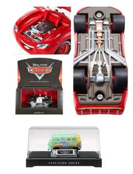 Hotwheels - Assortment/ Mix  - matDHD60-974E~6 : Cars 1/55 Precision series with opening hood, detailed chassis, miniature License plate all in Nice display case & Packaging.