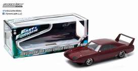 GreenLight - Dodge  - gl19003A : 1969 Dodge Charger Daytona Custom Fast & Furious VI metallic red in special F&F packaging.