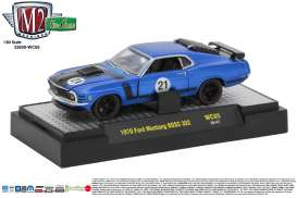 M2 Machines - Ford Mustang - M2-32600WC05B : 1971 Ford Mustang BOSS 302 *Wild Cards Release WC05*, blue/black