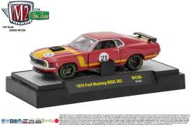M2 Machines - Ford  - M2-32600WC06B : 1970 Ford Mustang BOSS 302 *Wild Cards Release WC-06*, red/yellow