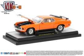 M2 Machines - Ford Mustang - M2-40300-53D : 1970 Ford Mustang Mach 1 428 , orange/black