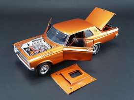 Acme Diecast - Dodge  - acme1806502 : 1965 Dodge AWB A/FX Funny Car with Fuel Injected Hemi Engine in blazing copper metallic