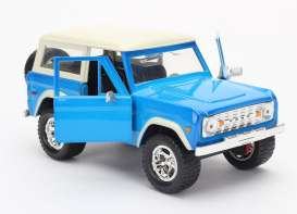 Jada Toys - Ford  - jada97824b : 1973 Ford Bronco, light blue with white roof
