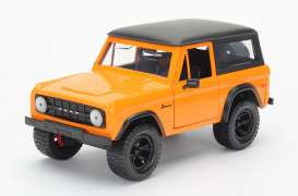 Jada Toys - Ford  - jada97824o : 1973 Ford Bronco, orange with black roof
