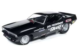Auto World - Plymouth  - AW1177 : 1973 Plymouth Cuda Funny Car The Snake III (Don Prudhomme, black