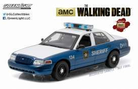 GreenLight - Ford  - gl91004 : Rick and Shane's 2001 Ford Crown Victoria Police Interceptor *The Walking Dead* 2.4 GHz Remote Control Hollywood Remote Control Series