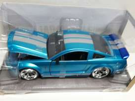 Jada Toys - Shelby  - jada96729b*3 : 2008 Ford Mustang Shelby GT500 KR, blue with white stripes