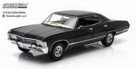 GreenLight - Chevrolet  - gl19014*3 : 1967 Chevrolet Impala Sport Sedan with Ohio License Plate *Supernatural TV Series*. Artisan Diecast Sealed Body Collection, black in Supernatural TV Series packaging.