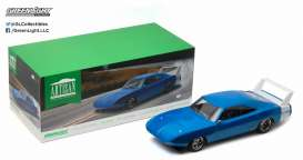 GreenLight - Dodge  - gl19019*2 : 1969 Dodge Charger Daytona Custom, blue with white wing