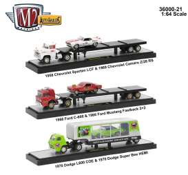 M2 Machines - Assortment/ Mix  - m2-36000-21~3 : Auto Haulers series 21, assortment of 3 pieces