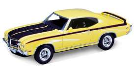 Welly - Buick  - welly22433y*2 : 1970 Buick GSX, yellow