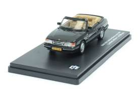 Triple9 Collection - Saab  - T9-43048*2 : 1991 Saab 900 cabriolet, black with brown-beige interior.