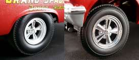 Acme Diecast - Rims & tires Wheels & tires - acme1806503W : 1/18 real nice chrome 5 Spoke Drag Wheel and tire combo (set of 4 rims & tires).