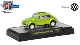 M2 Machines - Volkswagen  - M2-32500VW4A : 1953 Volkswagen Beetle U.S.A. Model, lime green
