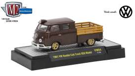 M2 Machines - Volkswagen  - M2-32500VW4C : 1961 VW Double Cab Truck U.S.A. Model, pearl brown