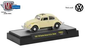 M2 Machines - Volkswagen  - M2-32500VW4F : 1959 Volkswagen Beetle Deluxe U.S.A. Model, yukon yellow