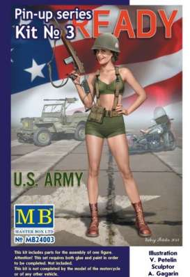 Master Box - Figures diorama - MB24003 : 1/24 Pin-up series #3 Alice U.S. Army, plastic modelkit