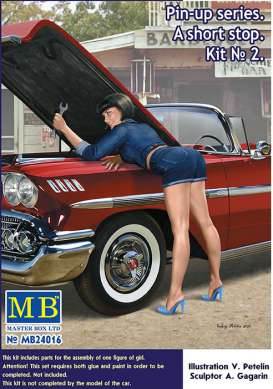 Master Box - Figures diorama - MB24016 : 1/24 Pin-up series A Short Stop Kit #2 Girl, plastic modelkit