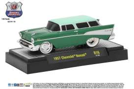M2 Machines - Chevrolet  - M2-82161-16C : 1957 Chevrolet Nomad *Ground Pounders Release 16*, green