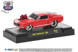 M2 Machines - Shelby  - M2-82161-16E : 1967 Shelby G.T. 500 *Ground Pounders Release 16*, red/white
