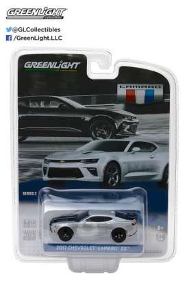GreenLight - Chevrolet  - gl27875E : 2017 Chevrolet Camaro SS *General Motors Series 2*, silver/black metallic